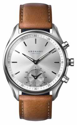 Kronaby SEKEL bluetooth tanned Brown Leather Strap A1000-0713