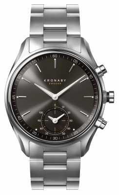 Kronaby SEKEL bluetooth Black dial Stainless steel Bracelet A1000-0720