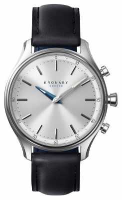 Kronaby SEKEL bluetooth Black Leather Strap A1000-0657