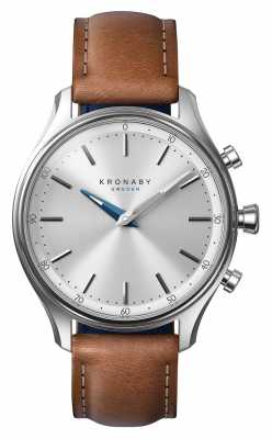 Kronaby SEKEL Stainless 38mm Brown Leather Strap A1000-0658