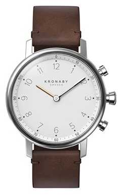 Kronaby NORD bluetooth Brown Leather Strap watch A1000-0711