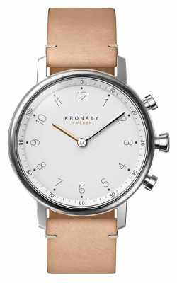Kronaby NORD bluetooth Beige Leather strap watch A1000-0712