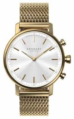 Kronaby CARAT bluetooth Gold Mesh Strap A1000-0716