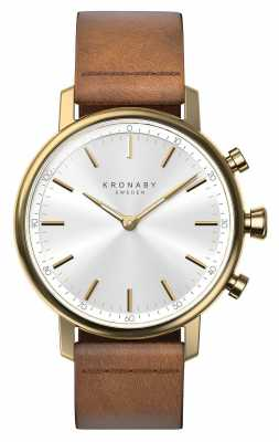 Kronaby CARAT bluetooth Brown Leather Strap watch A1000-0717