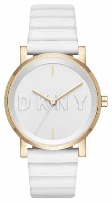 DKNY Womans Soho White Strap White Dial NY2632