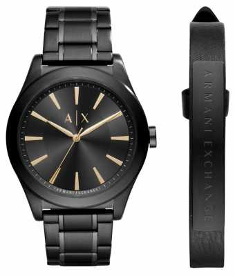 Armani Exchange Mens Dress Watch Black Stainless Steel AX7102