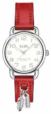 Coach Womans Delancy Watch Red Leather Strap 14502758