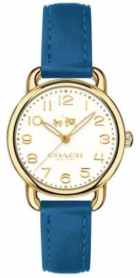 Coach Womans Delancy Watch Blue Leather Strap 14502709