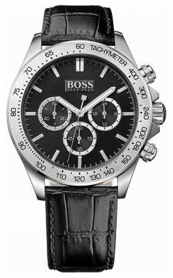 Hugo Boss Gents Ikon Black Leather Chronograph 1513178