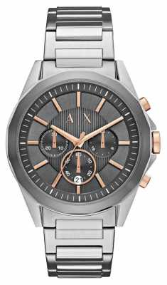 Armani Exchange Gents Drexler Stainless Steel/rose Gold Watch AX2606