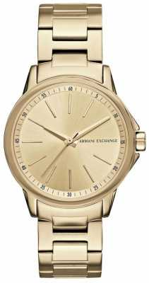 Armani Exchange Lady Banks Gold Ion Plated Watch AX4346