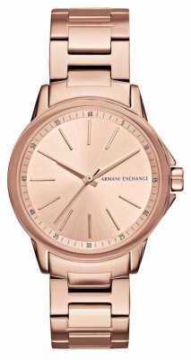 Armani Exchange Lady Banks Rose Gold Ion Plated Watch AX4347