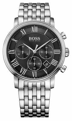 Hugo Boss Mens Elevation Chronograph Stainless Steel Black Dial 1513323