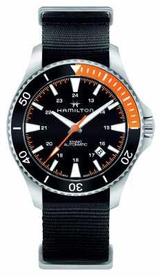 Hamilton Mens Khaki Navy Scuba Automatic Black H82305931