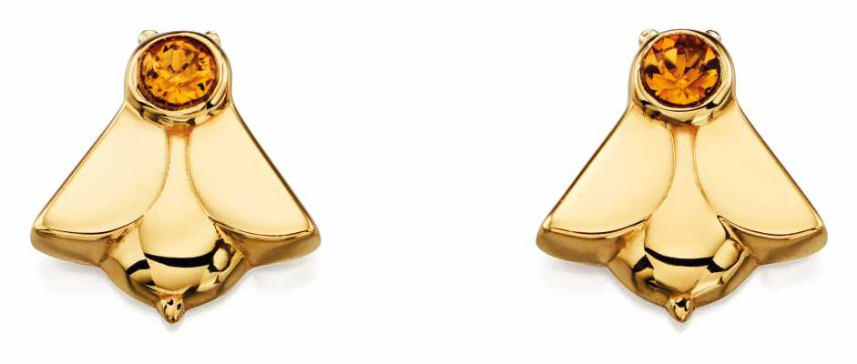 Orla Kiely ANIMAL STORIES gold plated sterling silver bee earings E5227