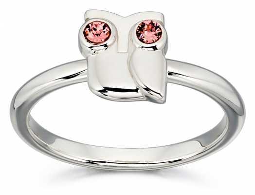 Orla Kiely ANIMAL STORIES Sterling Silver Owl Ring R3494-58