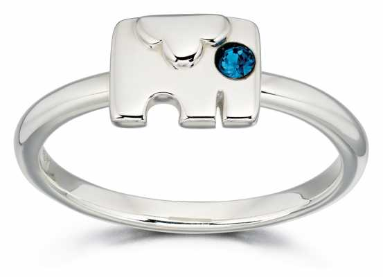 Orla Kiely ANIMAL STORIES Sterling Silver Elephant Ring R3495-54