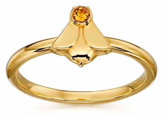 Orla Kiely ANIMAL STORIES Gold Plated Sterling Silver Bee Ring R3496-56