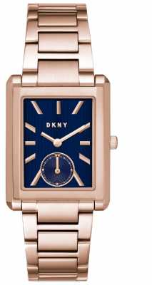 DKNY Womans Gershwin Rose Gold Stainless Steel Watch NY2626