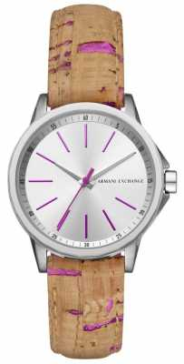 Armani Exchange Womans Leather Strap Dress Watch AX4349