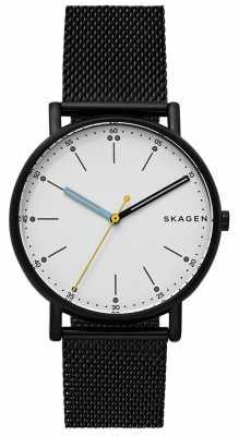 Skagen Mens Signatur Stainless Steel Black Mesh Bracelet SKW6376