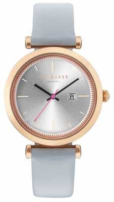 Ted Baker Womans Ava 36mm Rose Gold Case Grey Watch TE10031520