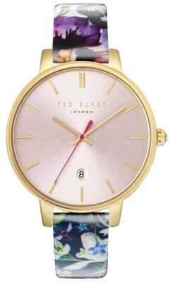 Ted Baker Womans Kate Floral Strap Pink Dial TE10031542