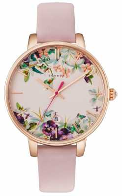 Ted Baker Womans Kate Floral Dial Pink TE10031550