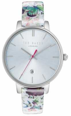 Ted Baker Womans Kate Floral Strap Silver Dial TE10031540