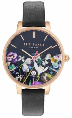 Ted Baker Womans Kate Floral Dial Black TE10031552