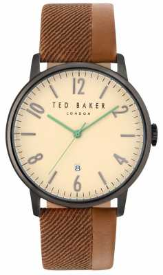 Ted Baker Mens Daniel Two Tone Leather Strap Cream Dial TE10031573