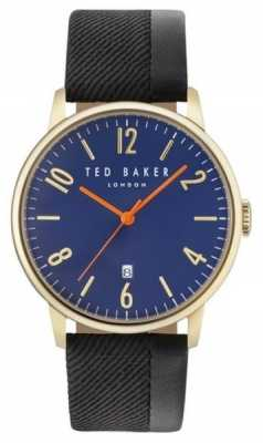 Ted Baker Mens Daniel Two Tone Leather Strap Blue Dial TE10031571
