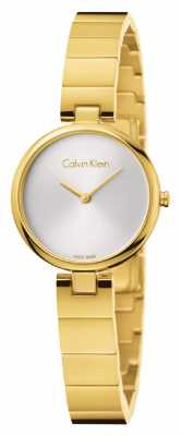 Calvin Klein Womans Authentic PVD Gold Plated Steel Bracelet K8G23546