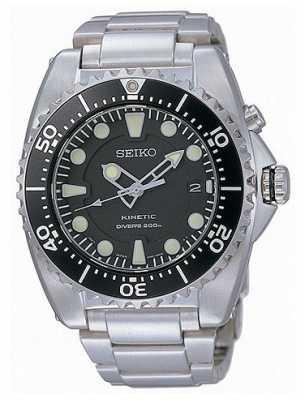 Seiko Mens Kinetic Divers Stainless Steel Bracelet SKA761P1