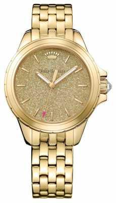 Juicy Couture Womans Malibu Round Gold Tone Bracelet 1901593