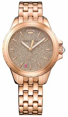 Juicy Couture Womans Malibu Round Rose Gold Tone Bracelet 1901594
