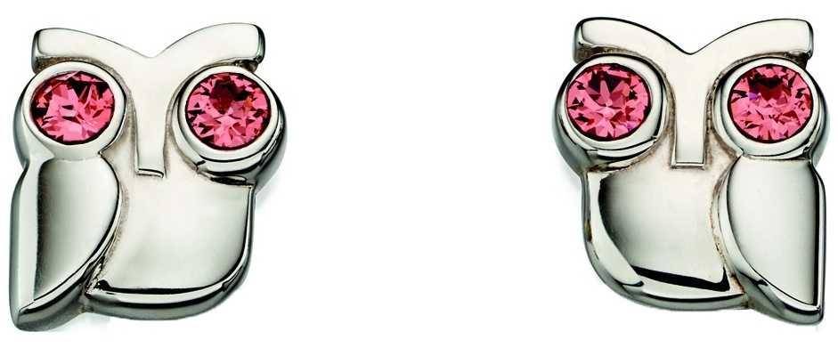 Orla Kiely Womans Sterling Silver Owl Stud Earrings E5223