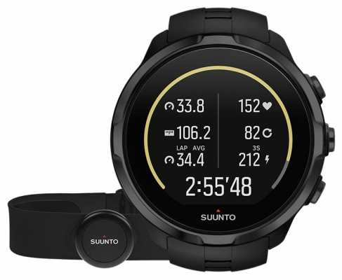 Suunto Spartan Sport Wrist HR All Black With Belt SS023364000