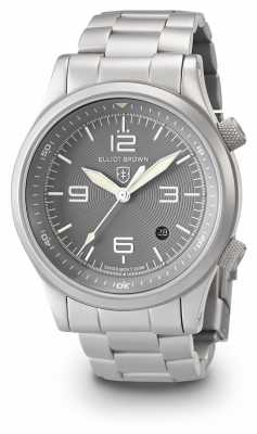 Elliot Brown Mens Canford Silver And Grey Stainless Steel Bracelet 202-018-B06