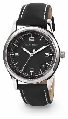 Elliot Brown Womans Kimmeridge Black Dial Black Oiled Leather Strap 405-005-L58