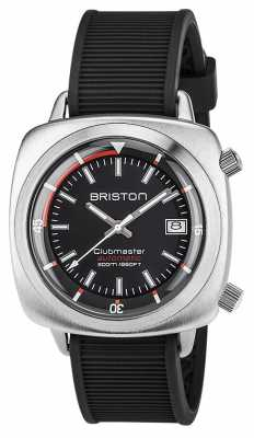 Briston Unisex Clubmaster Diver Brushed Steel Auto Black 17642.S.D.1.RB