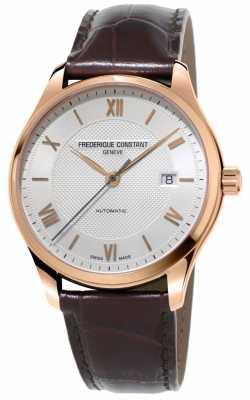 Frederique Constant Mens Classics Index Automatic Brown Leather Strap FC-303MV5B4