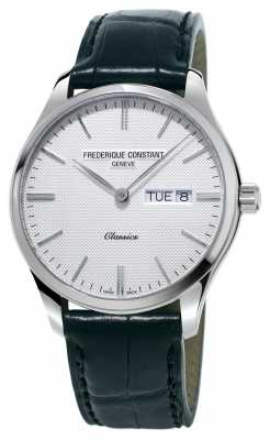 Frederique Constant Mens Classics Quartz Black Leather Strap White Dial FC-225ST5B6