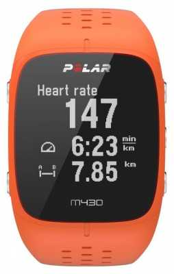 Polar M430 Orange Rubber Sports Watch 90064410