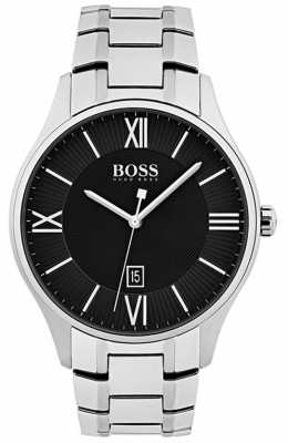Hugo Boss Mens Governor Classic Black Dial Watch 1513531