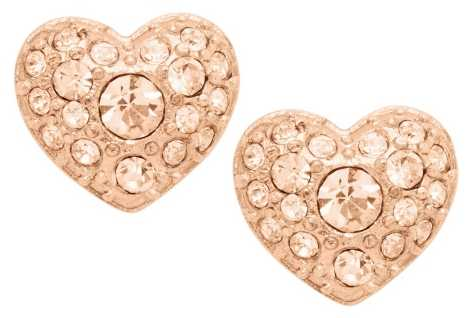 Fossil Womans Vintage Motifs Rose Gold Toned Earrings JF01151791