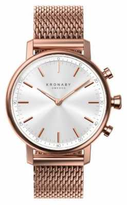 Kronaby CARAT bluetooth Rose Gold Plated Mesh Strap A1000-1400