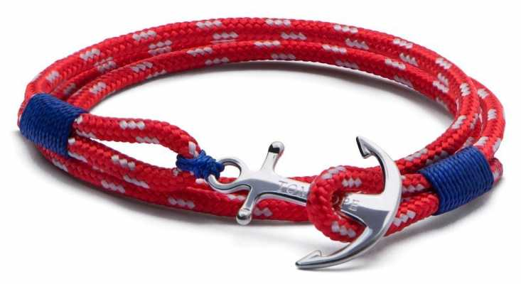 Tom Hope Sterling Silver Arctic 3 Red Small TM0011