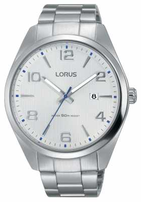 Lorus Mens Urban Dress Classic Steel Bracelet White Dial RH963GX9