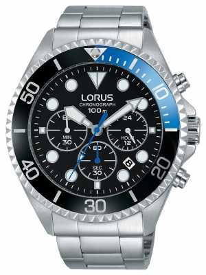 Lorus Mens Sport Chronograph Stainless Steel Bracelet RT315GX9